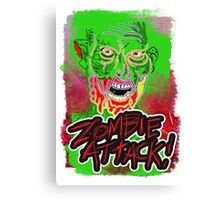 Funky Zombie Attack Canvas Print