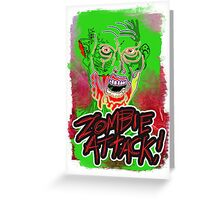 Funky Zombie Attack Greeting Card