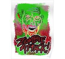 Funky Zombie Attack Poster