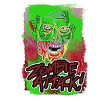 Funky Zombie Attack Photographic Print