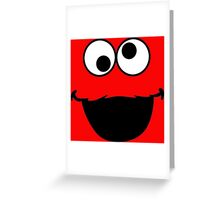 Elmo Face Greeting Card
