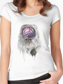 astronout bass head Women's Fitted Scoop T-Shirt