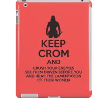 Keep Crom and Crush Your Enemies iPad Case/Skin