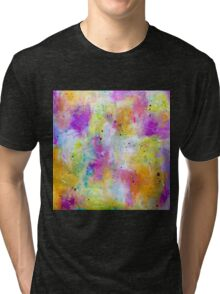 Abstract warm colours Tri-blend T-Shirt