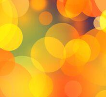 Colorful Bokeh Lights Art Sticker