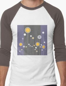 Retro Floral Pattern Men's Baseball ¾ T-Shirt