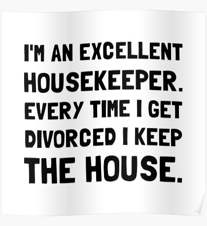 Divorced Housekeeper Poster
