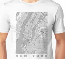 New York Map Line Unisex T-Shirt
