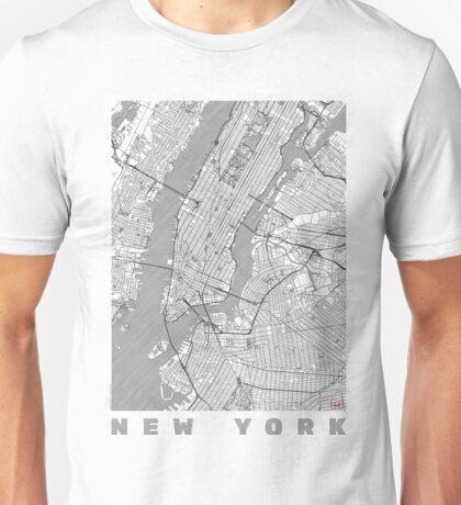 New York Map Line Unisex T-Shirt