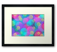 Colorful Purple Blue Tones Bokeh Lights Art Framed Print