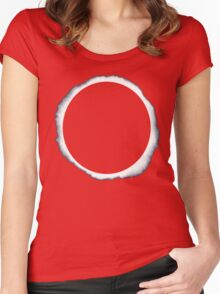 Danisnotonfire circle eclipse Black Only Women's Fitted Scoop T-Shirt