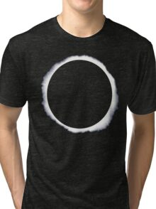 Danisnotonfire circle eclipse Black Only Tri-blend T-Shirt
