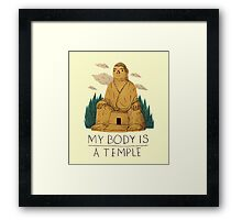 my body is a temple Framed Print