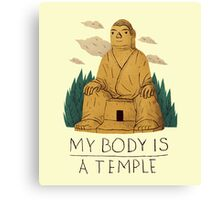my body is a temple Canvas Print