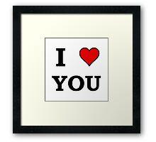 I Heart Love You Framed Print