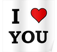 I Heart Love You Poster