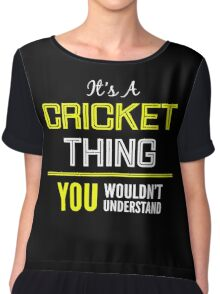 Cricket Chiffon Top