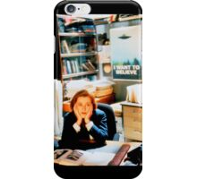 DANA SCULLY x files - I Want To Believe iPhone Case/Skin
