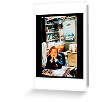 DANA SCULLY x files - I Want To Believe Greeting Card