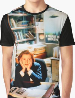 DANA SCULLY x files - I Want To Believe Graphic T-Shirt
