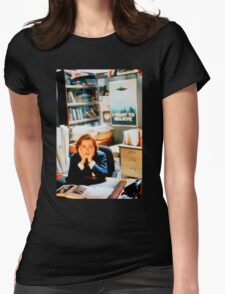 DANA SCULLY x files - I Want To Believe Womens Fitted T-Shirt