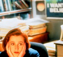 DANA SCULLY x files - I Want To Believe Sticker