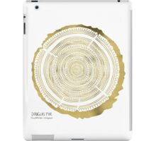 Douglas Fir – Gold Tree Rings iPad Case/Skin