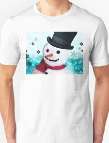 Snowman Art - Frosty Unisex T-Shirt