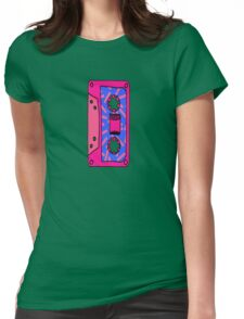Retro 80's 90's Neon Patterned Cassette Tapes Womens Fitted T-Shirt