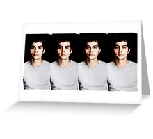 Seeing Double Dylan Greeting Card