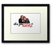 Are you local? Framed Print