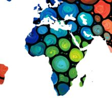 Map of The World 1 -Colorful Abstract Art Sticker