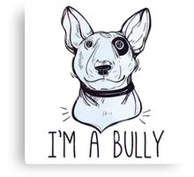 Bull Terrier  - Bully Canvas Print