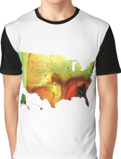 United States of America Map 5 - Colorful USA Graphic T-Shirt