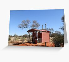 Northern Territory/South Australia Border Dunny Greeting Card