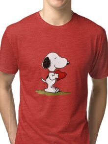 Snoopy In Love Tri-blend T-Shirt