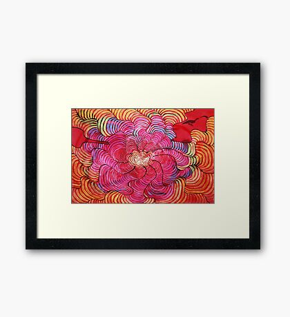 Vibrations of Happiness Framed Print
