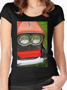 Old car headlight 3 Women's Fitted Scoop T-Shirt
