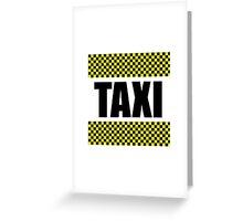 Taxi Cab Greeting Card