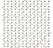 Retro 80's 90's Inspired Colorful Polka Dots Photographic Print