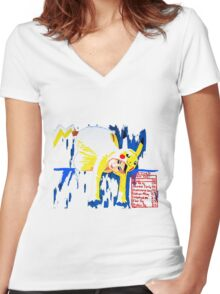 Characterized Women's Fitted V-Neck T-Shirt