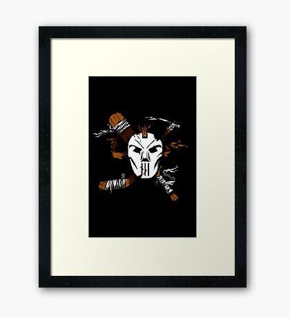 Masked Chaos Framed Print