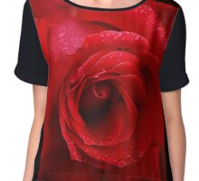 The Queen Of Roses Chiffon Top