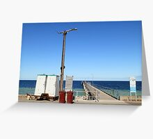Temporary Dunny at Wool Bay, South Australia Greeting Card