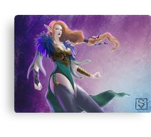 Elf in Cold Hues Canvas Print