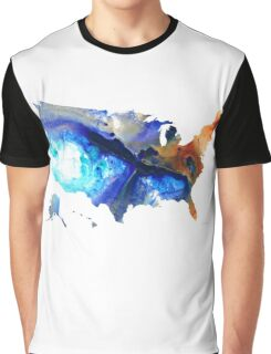 United States of America Map 7 - Colorful USA Graphic T-Shirt
