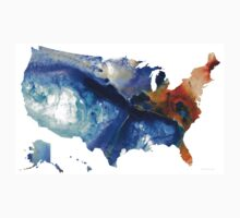 United States of America Map 7 - Colorful USA Kids Tee