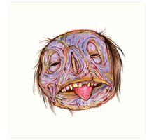 Rotten Head - Putrid Purple Art Print