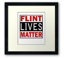 Flint Lives Matter Framed Print