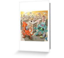 Robot vs. Squid Greeting Card